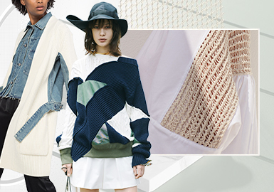 Deconstruction and Reorganization -- The Craft Trend for Women's Knitwear (Splicing)