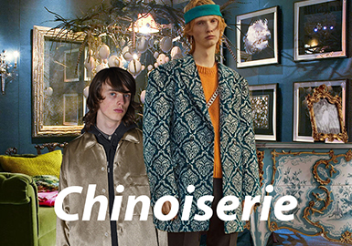 Chinoiserie -- A/W 21/22 Theme Fabric Trend for Menswear