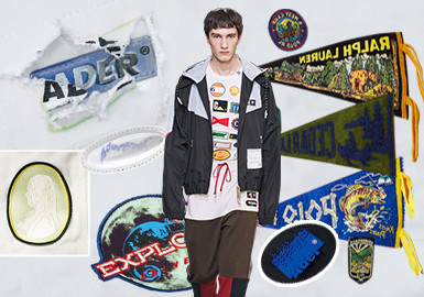 Smart Use of Patches -- The Pattern Craft Trend for Menswear