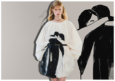 Beauty of Black and White -- The Catwalk Analysis of Ports 1961 Womenswear