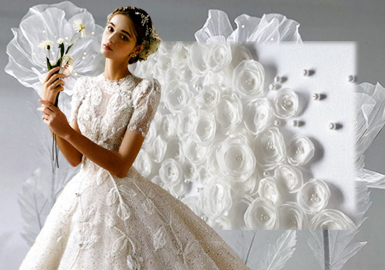 3D Flowers -- The Craft Trend for Women's Wedding Dress