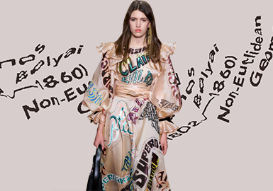 Artistic Letters -- The Pattern Craft Trend for Womenswear