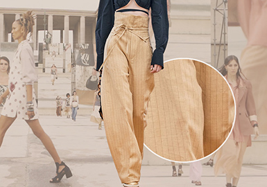 Trousers -- The Comprehensive Analysis of Fabrics on Womenswear Catwalks