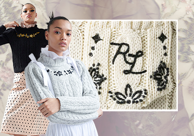 Embroideries -- The Craft Trend for Women's Knitwear