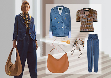 Urban New Look -- Clothing Collocation for Women's Denim Outerwear