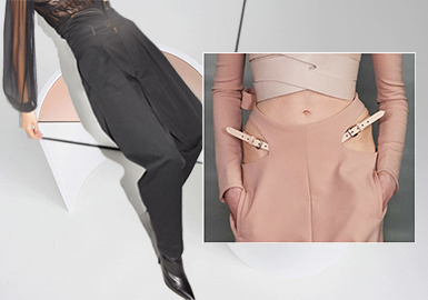 Changes on the Waist -- The Craft Detail Trend for Women's Trousers