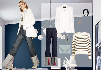 Daily Commute -- Clothing Collocation for Women's Jeans