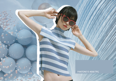Blue Fog -- The Color Trend for Women's Knitwear