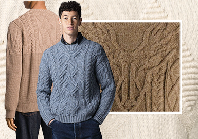 Heavy-Gauged Designs and Delicate Details -- The Craft Trend for Men's Knitwear