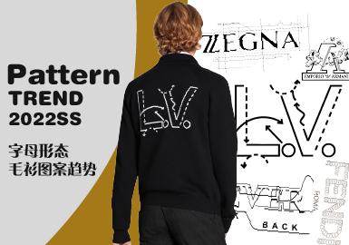 Letter Form -- The Pattern Trend for Men's Knitwear