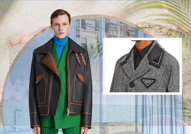 Avant-Garde Collars -- The Craft Detail Trend for Men's Leather and Fur Clothing