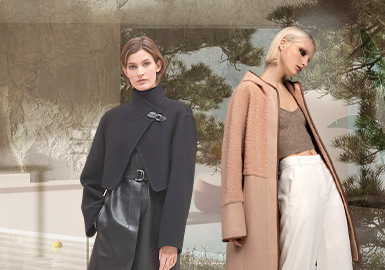 Layered Overlapped Combination -- The Silhouette Trend for Women's Leather and Fur Clothing
