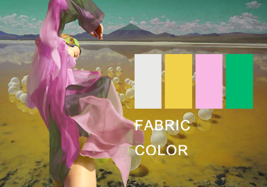 The Hybrid Age -- The Chemical Fiber Fabric Color Trend for Womenswear