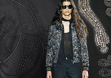 Delicate Rhinestones -- The Pattern Craft Trend for Menswear