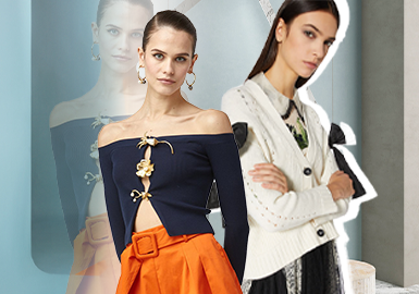 Natural Curves -- The Silhouette Trend for Women's Knitwear and Cardigan