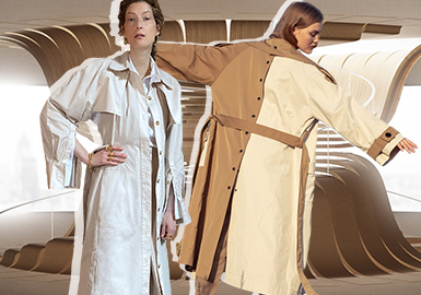 Elegant Variations -- The Detail Craft Trend for Women's Trench Coat