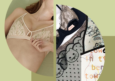 Simple Embroidery -- The Pattern Craft Trend for Women's Underwear