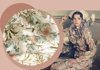 Floral Tonality -- The Silk Fabric Trend for Womenswear