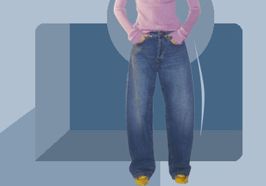 New Loose Style -- The Silhouette Trend for Womens' Jeans