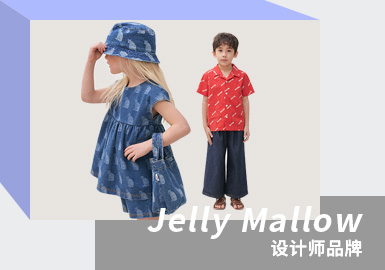 Fashionable Wear in Retro Color -- Jelly Mallow The Kidswear Designer Brand