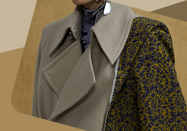 Multiple Splicing -- The Detail Craft Trend for Overcoat