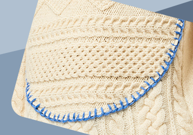 The Application of Point-line-block -- The Craft Trend for Mens' Knitwear