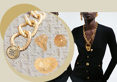 Delicate and Luxury Metal -- The Accessory Trend for Women's Knitwear