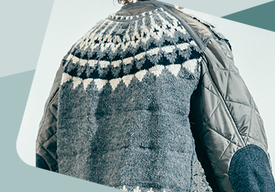 Heterogeneous Layers -- The Craft Trend for Men's Knitwear