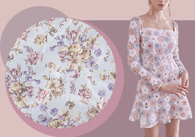 Romantic Garden -- The Printed Fabric Trend for French Style Womenswear