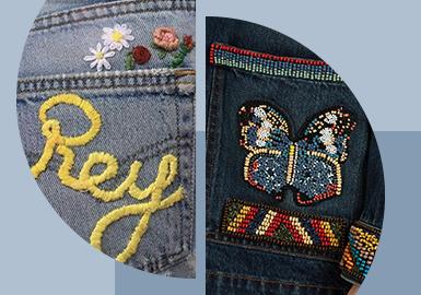 Decorative Pocket -- The Pattern Craft Trend for Women's Denim