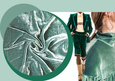 Luxurious Velvet -- The Velvety Fabric Trend for A/W 22/23
