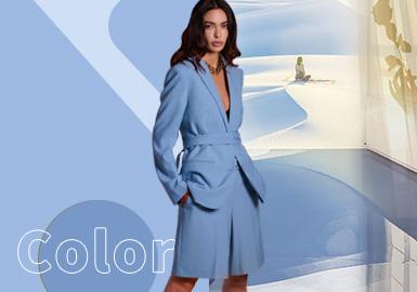 Della Robbia Blue -- The Color Trend for Womenswear
