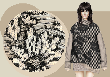 The Interpretation of Flower -- The Stitching Trend for Women's Knitwear