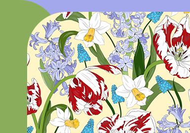 Tulips in Full Bloom--Womenswear Pattern Trend