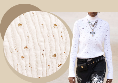 Delicate Eyelet -- The Stitching Trend for Women's Knitwear