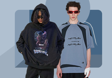Maintained Street Fashion -- The Silhouette Trend for Men's T-shirt & Sweatshirt