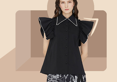 Youthful Lady -- The Silhouette Trend for Women's Shirt