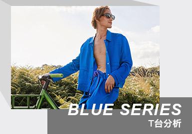 Color Analysis of Menswear Runway -- Blue