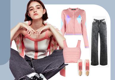Universal Korean Style -- The Clothing Collocation for Women's Denim