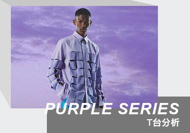 Color Analysis of Menswear Runway(Purple Series)